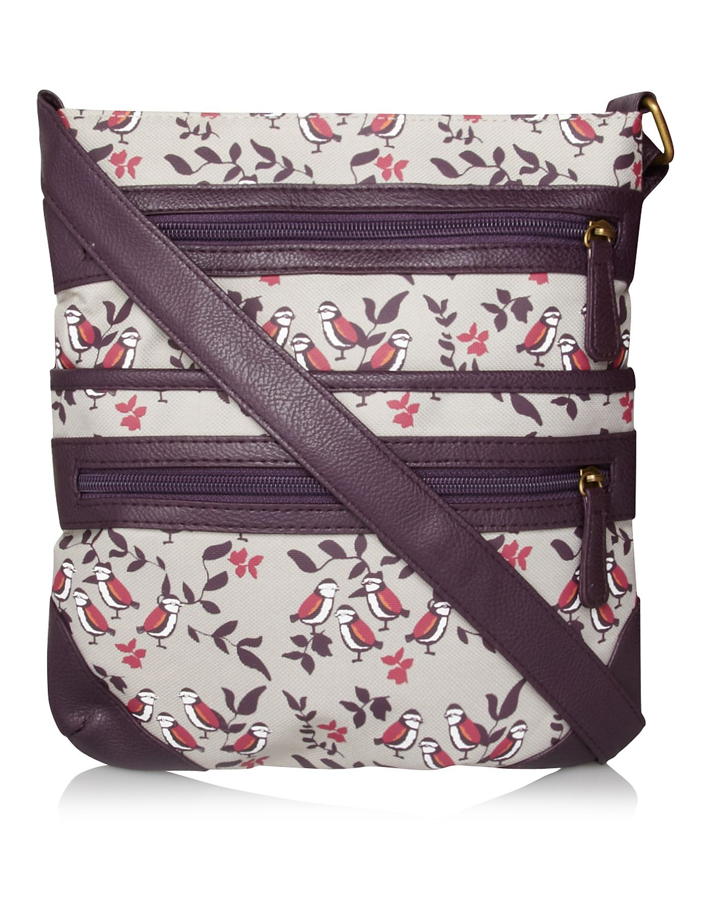 Bird Print Satchel Bag Women George At Asda