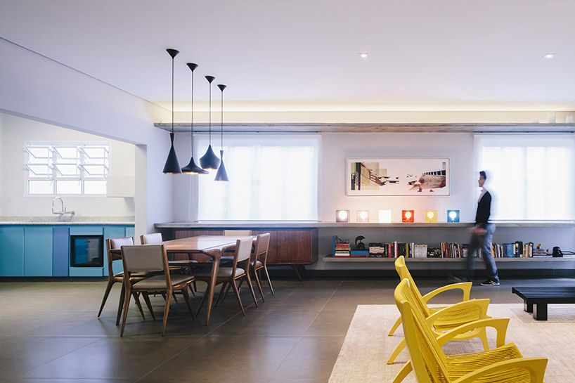 FC studio converts family apartment into brazilian bachelor pad - designboom | architecture