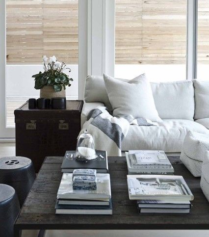 Love This Living Room Or Great Room Large Coffee Table Is Wonderful For Displaying Books Etc Beach House Style With The Bam Home Living Room Home Home Decor