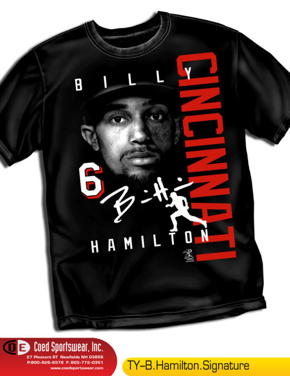 Billy Hamilton fastest guy in Baseball.  He should bring excitement to Cincinnati http://stores.ebay.com/dklane1 Free Ship
