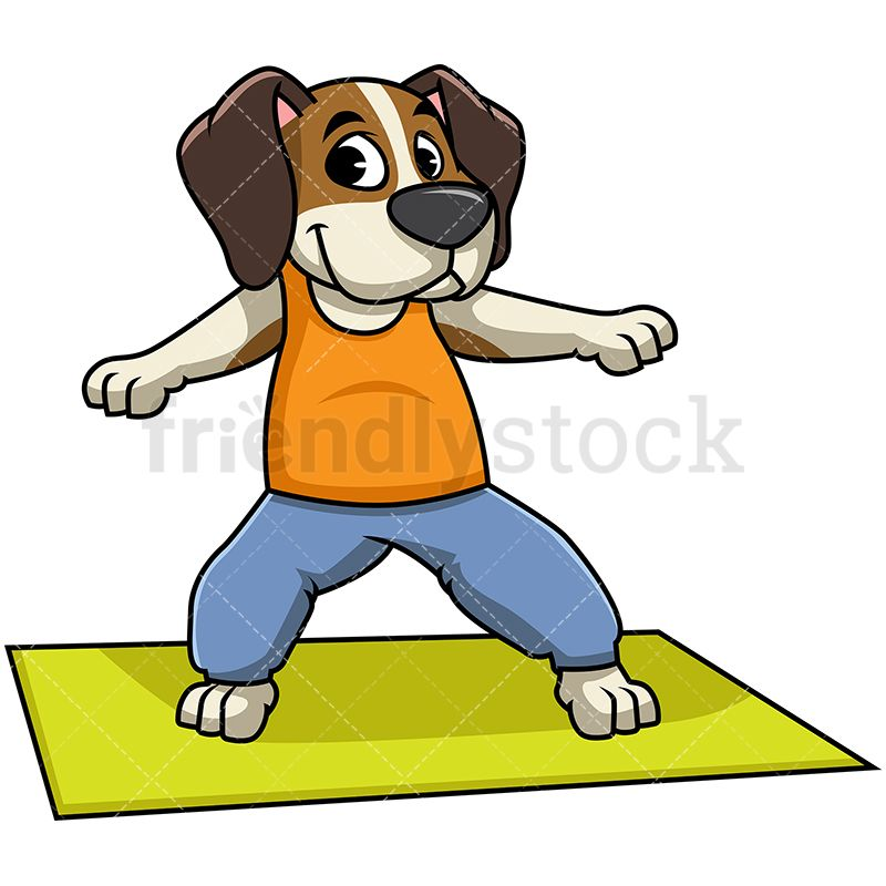Beagle Dog Doing Yoga Cartoon Vector Clipart Friendlystock Dog Doing Yoga Cartoon Dog Beagle Dog