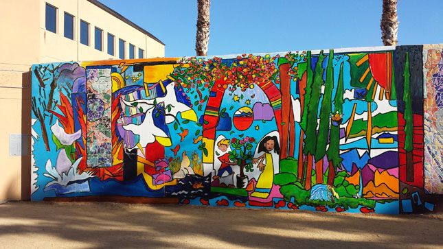 Peninsula jewish community center unveils new community for Community mural ideas
