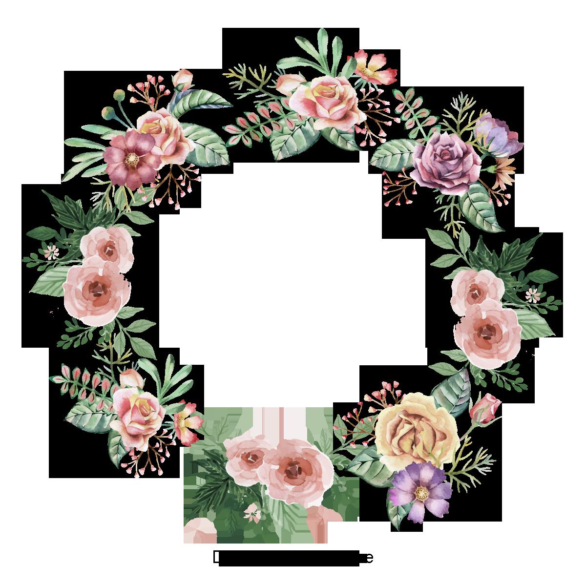 Krasivo Raspisannyj Venok Cvetok Vektor Cvetok Cvetochnyj Venok Png I Psd Fajl Png Dlya Besplatnoj Zagruzki Wreath Clip Art Vector Flowers Floral Wreath Watercolor