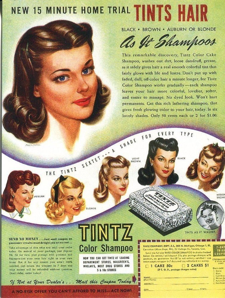 Image result for 1950s hair dye