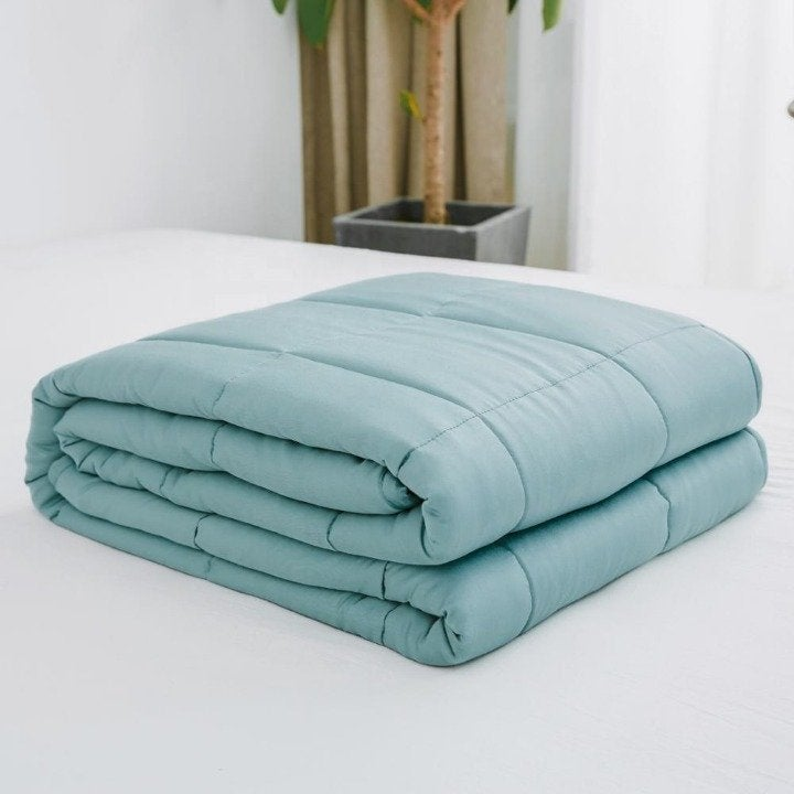 Weighted Blanket 100 Bamboo Cooling 15ib Mercari With Images