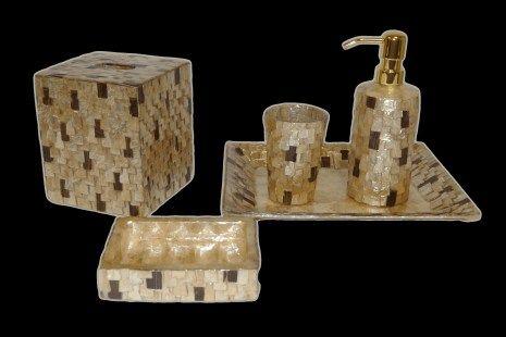 Bath Accessories Pearl Dragon Collections Gold Bathroom