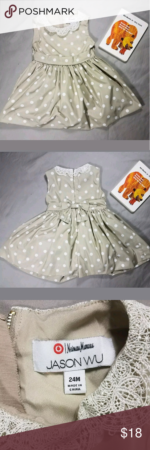 c142b720e Jason Wu for Target toddler girl party dress 24mos Neiman Marcus for Target  Collection Jason Wu Toddler girls tan polka dot party dress.