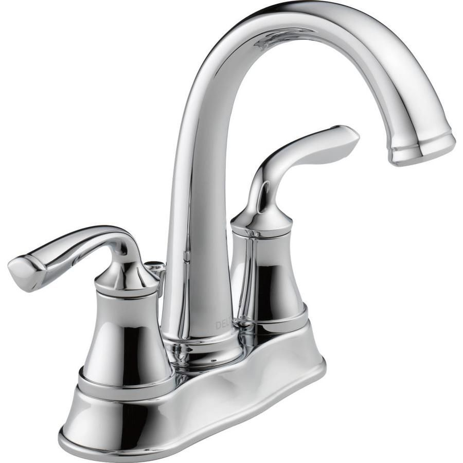 Delta Lorain Chrome 2-Handle 4-in Centerset WaterSense Bathroom ...