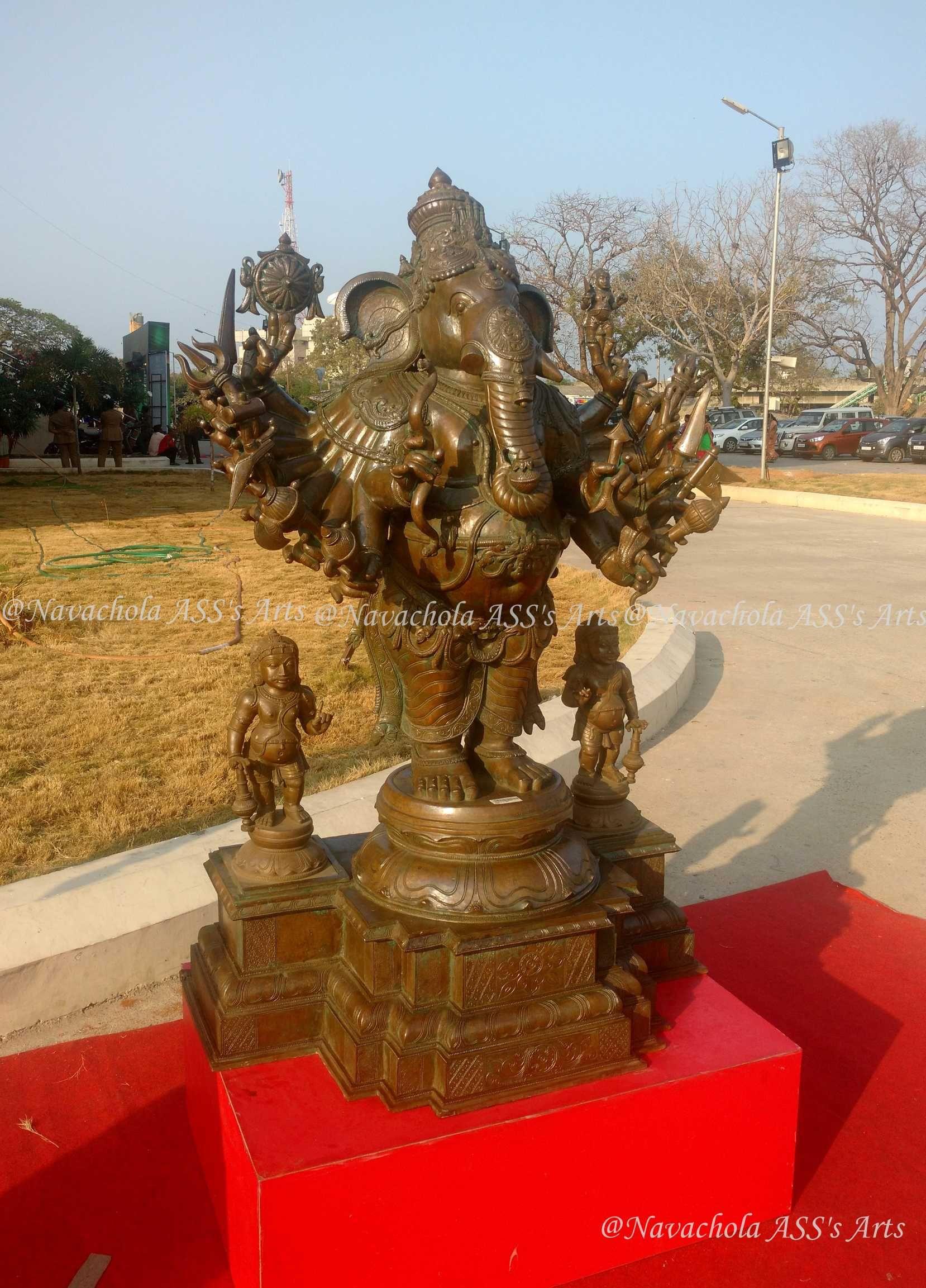 5 Feet Height Sri Veera Ganapathy New Bronze Icon