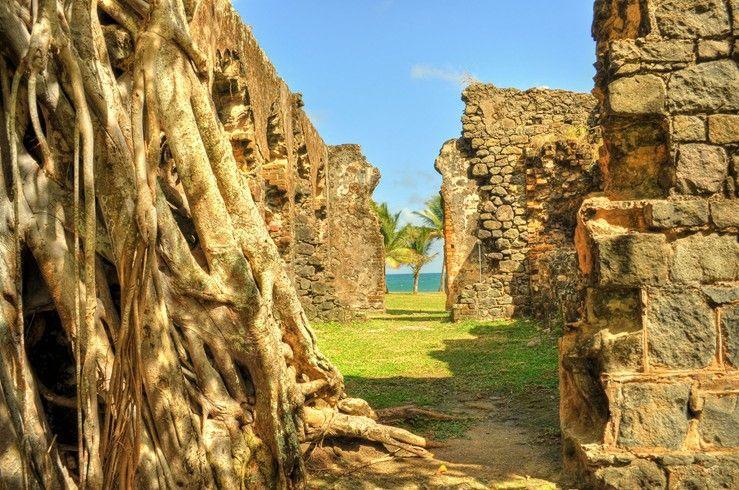 Caribbean ruins #travel