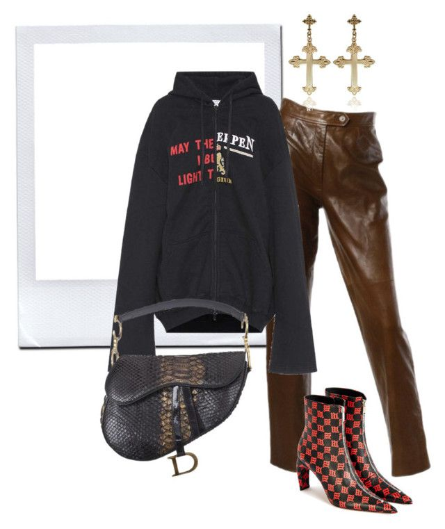 """""""Sans titre #678"""" by a4styled ❤ liked on Polyvore featuring Burberry, Vetements and Misbehave"""