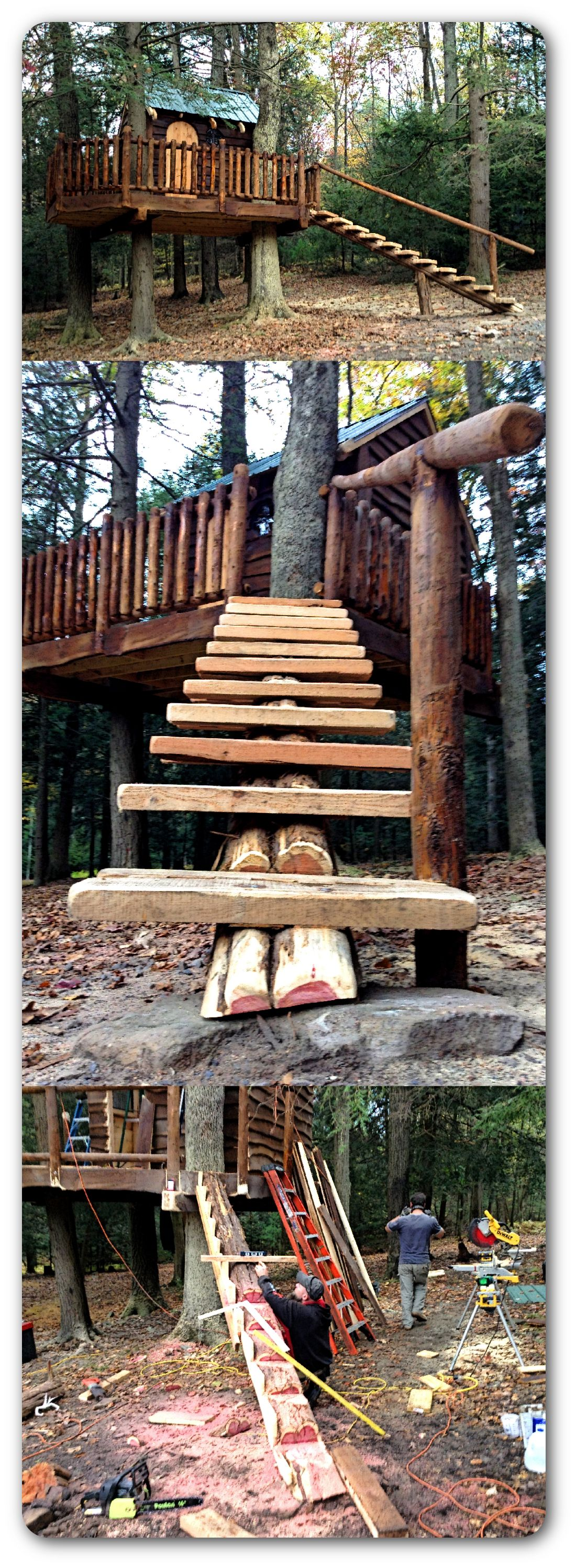 Customize your tree house with fun options like  zip line rope swing trap door and bucket more kids love our custom accessories also top builders treetopbuilders on pinterest rh