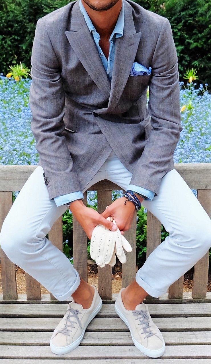 Ongebruikt summer casual outfit for men sneaker x jacket style clean & fresh JQ-11
