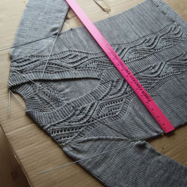 You probably already know how to block a sweater, but we love this tip from Tin Can Knits on using blocking wires within your sweater to add shape!