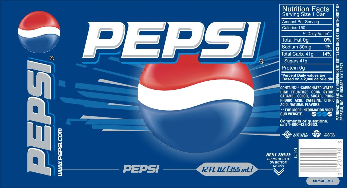 this design is for one of the well known pepsi products the font