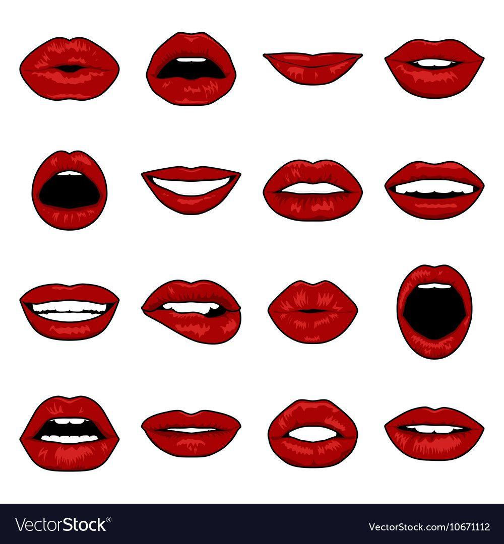 Cartoon Character Mouths Google Search Pop Art Lips Lips