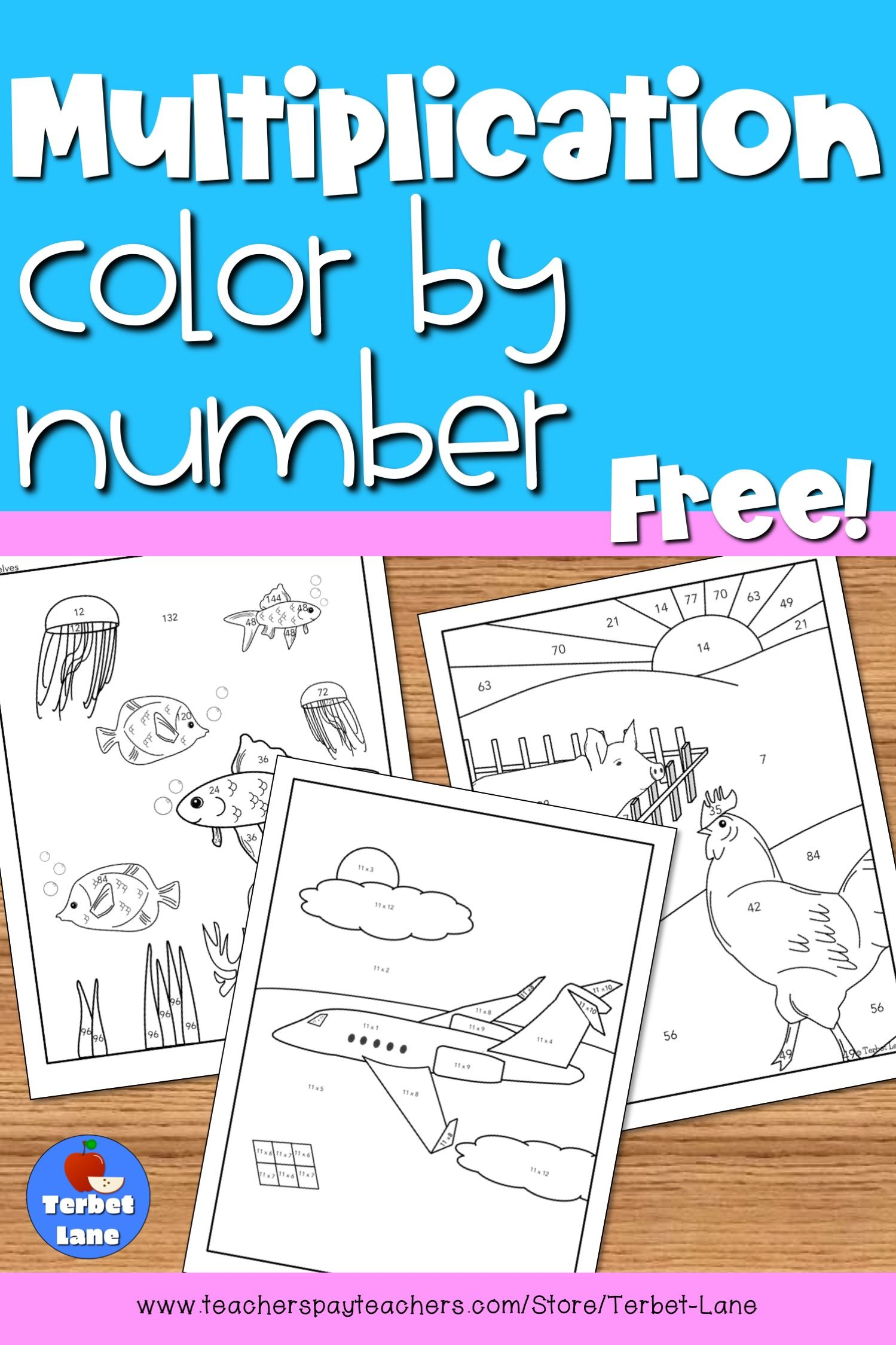 Multiplication Coloring Worksheets Color By Number Free