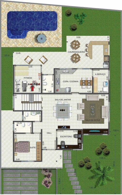 Pinterest claudiagabg casa 2 pisos 4 cuartos 1 estudio for Cuarto de estudio