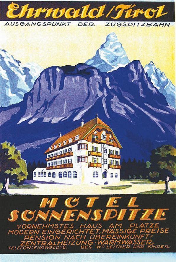 AUSTRIA Ehrivald, Hotel Sonnenspitze (Fritz Uhlich)