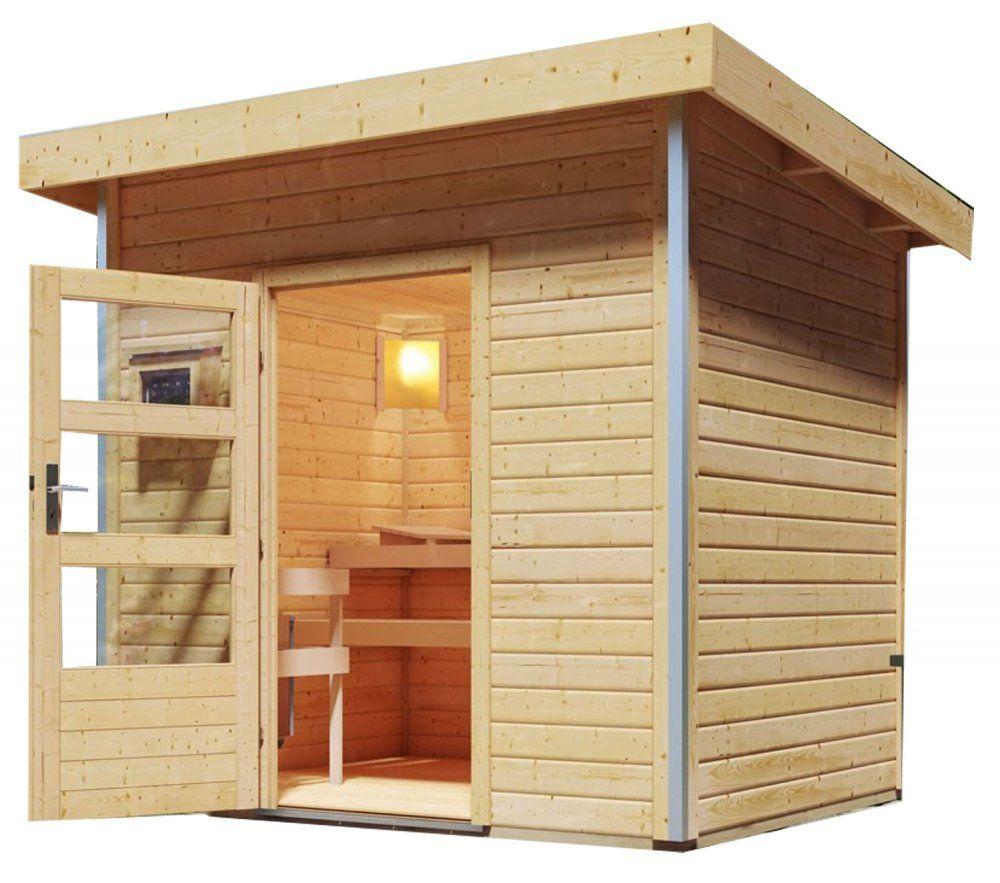 Outdoor Finnish sauna 196 x 146 cm Dekorhome
