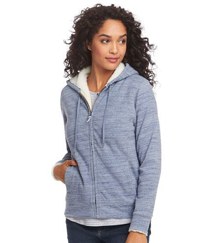 Women's Ultrasoft Sherpa-Lined Hoodie, Space-Dyed   Free Shipping at L.L.Bean