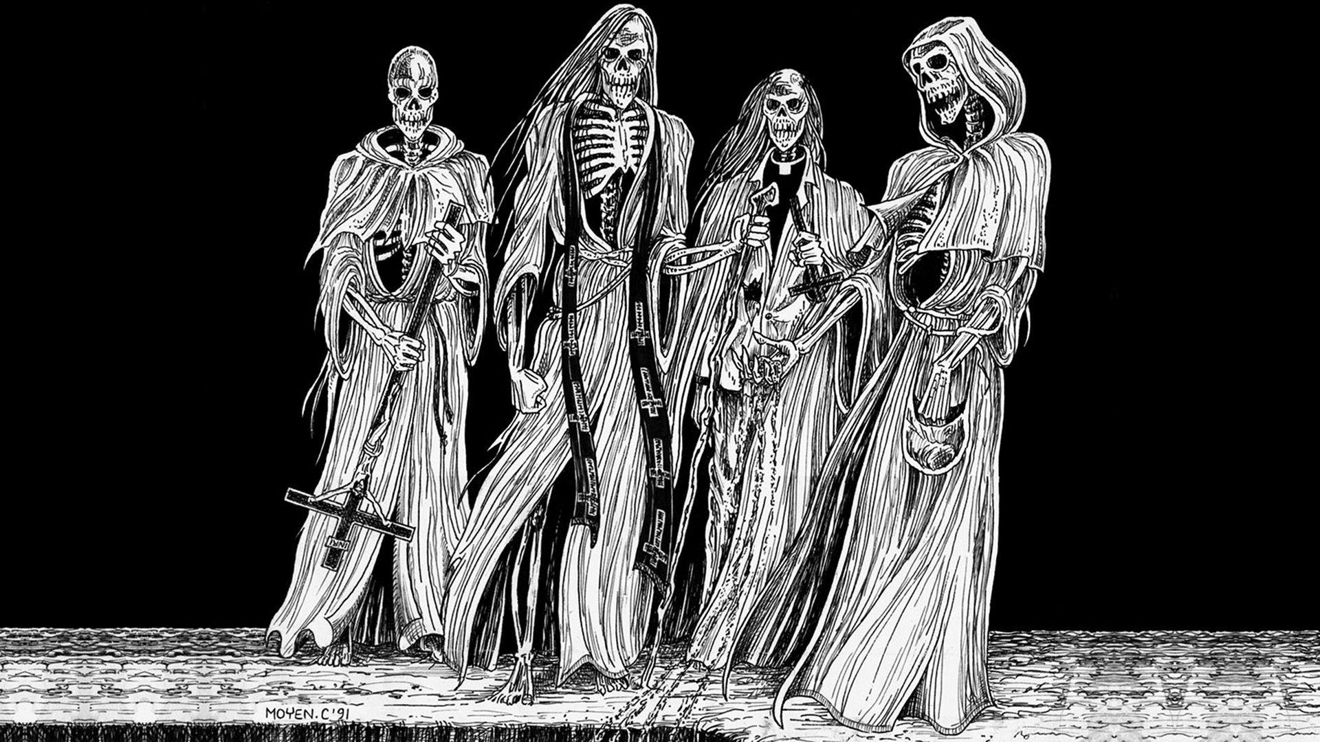 Metal Heavy Metal Black Metal Beherit Occultism Fresh New Hd Wallpaper Jpg 1920 1080 Heavy Metal Art Skeleton Warrior Dark Art