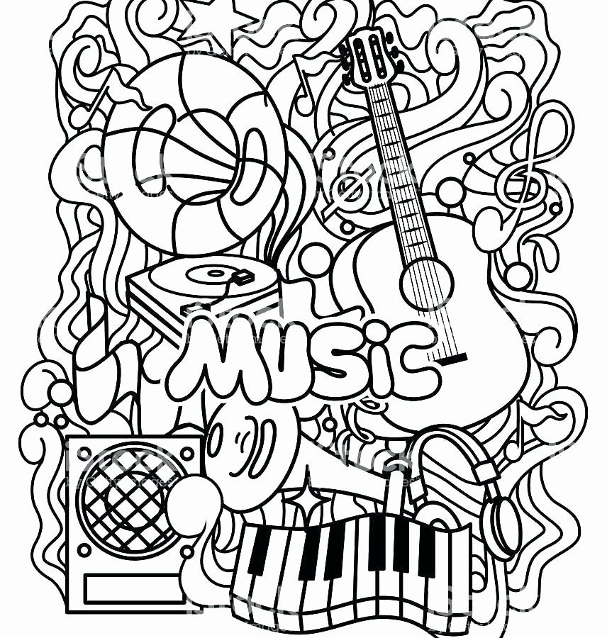 Music Coloring Pages For Kids Elegant Coloring Pages Musical At Getcolorings Music Coloring Sheets Music Coloring Music Notes Art