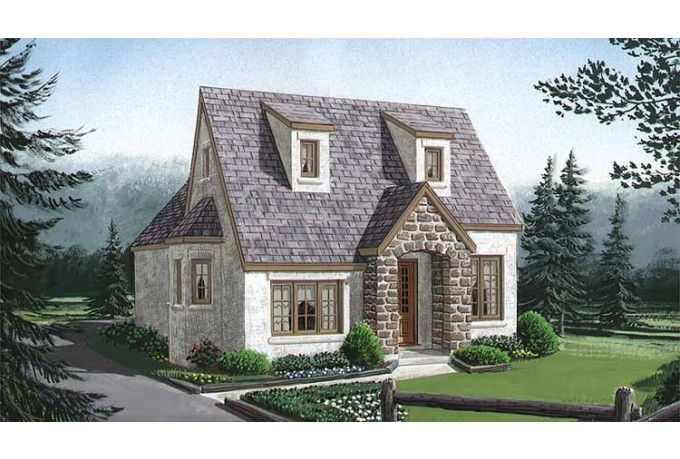 Colonial Style House Plan 1 Beds 1 Baths 717 Sq Ft Plan 410 249 Cottage House Plans Small English Cottage Cottage Style House Plans