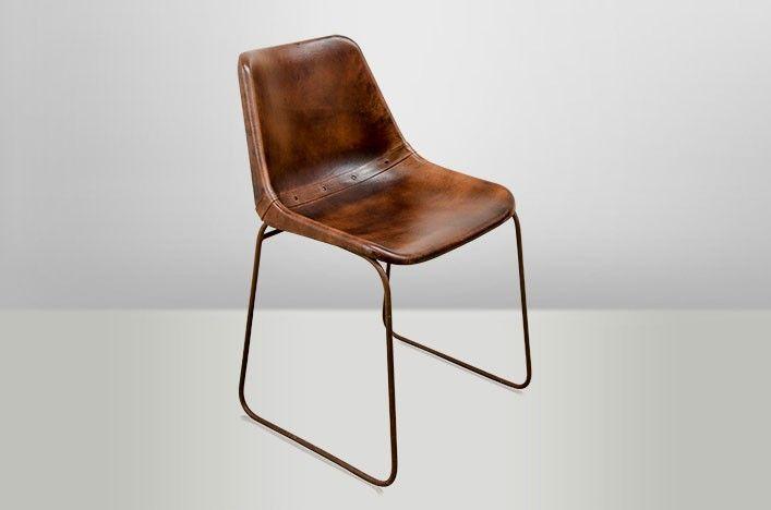 Esszimmerstühle Leder Braun stuhl leder metall die schönsten einrichtungsideen