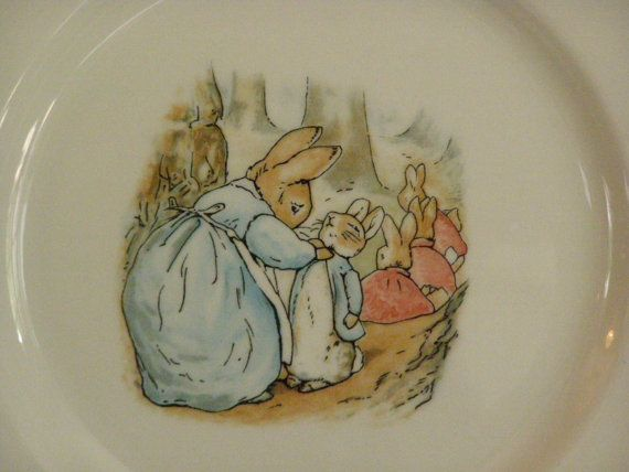 Wedgwood Peter Rabbit Dinner Plate ~ Made in England 1993 Mr/Mrs McGregor & Wedgwood Peter Rabbit Dinner Plate ~ Made in England 1993 Mr/Mrs ...