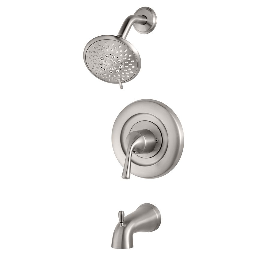 Pfister Universal Trim Brushed Stainless Steel 1-Handle Bathtub and ...