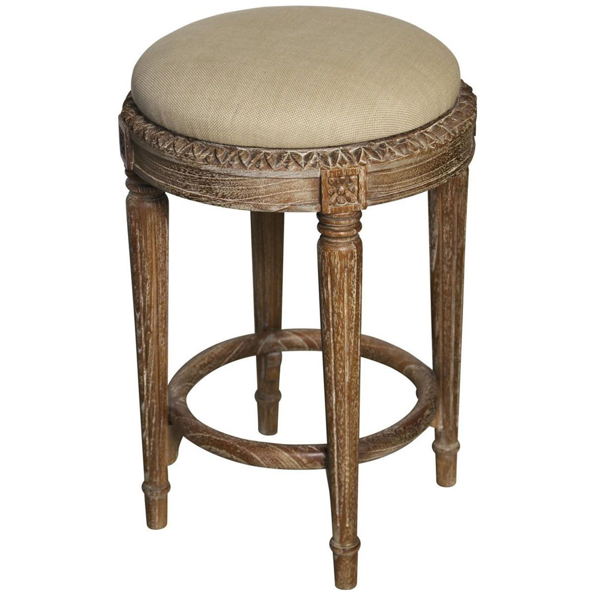 Noir Grey Wash Isabelle Counter Stool
