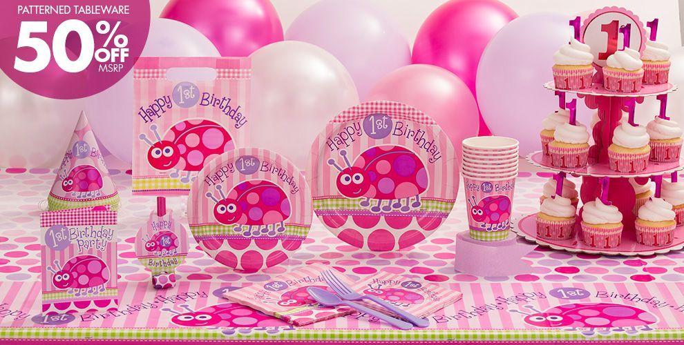 Pink Ladybug Party Supplies