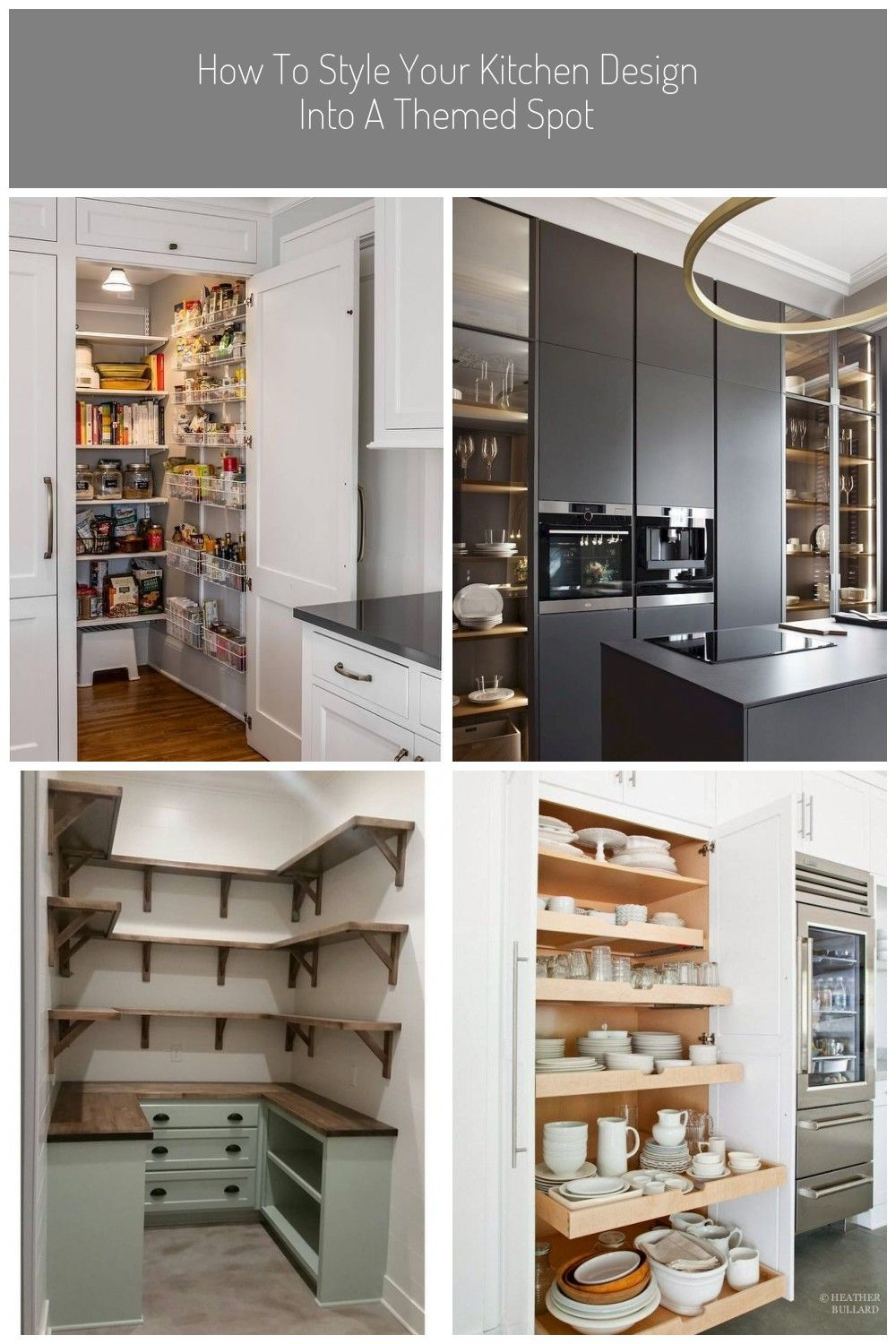 A White Paneled Cabinet Doors Opens To Reveal A Hidden Kitchen Pantry Equipped With Stacked White Metal Spice Baske In 2020 Hidden Kitchen Cabinet Doors Kitchen Pantry
