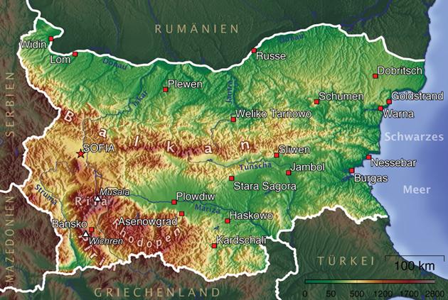Bulgarien Karte Im Bulgarien Reisefuhrer Http Www Abenteurer Net