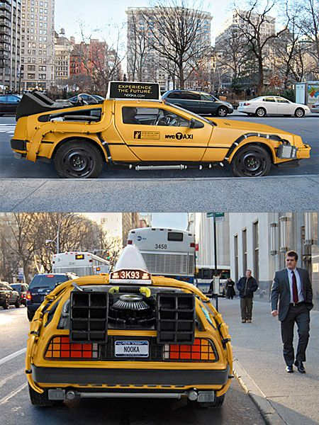 Delorean Taxi Hits Nyc Won T Take You Back To The Future Zuruck In Die Zukunft Coole Autos Autos