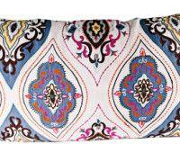 Mauve embroidered cushion