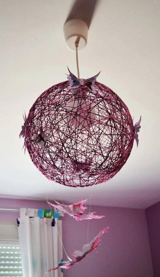 Mariposas hechas a mano l mpara de techo con mariposas - Lamparas de techo hechas en casa ...