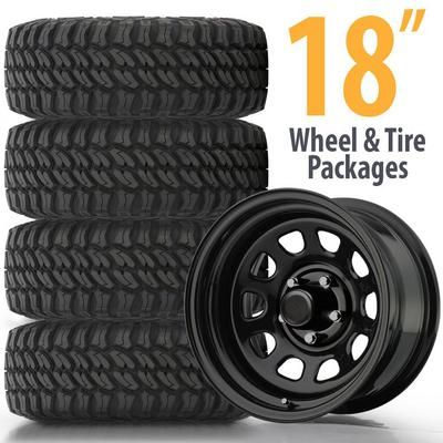 Tires Best Wheels And Tires For Jeeps Trucks 4wp 4 Wheel Parts >> Genuine Packages 18 Inch Wheel And Tire Packages Best