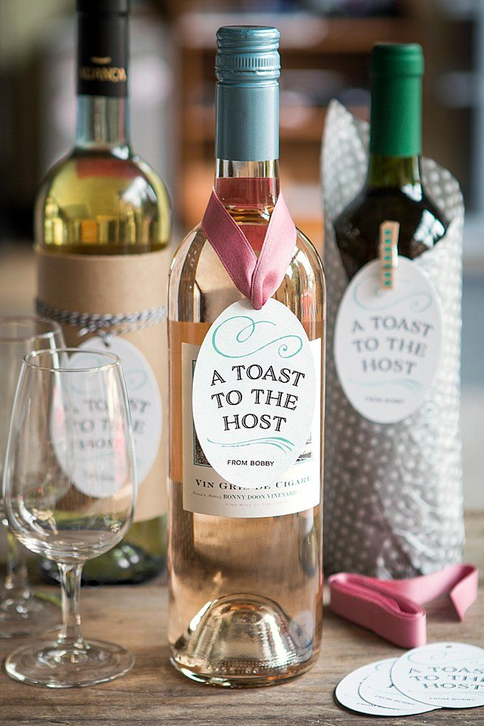 Hostess Wine Tags Cute Gift Ideas Pinterest Hostess Gifts