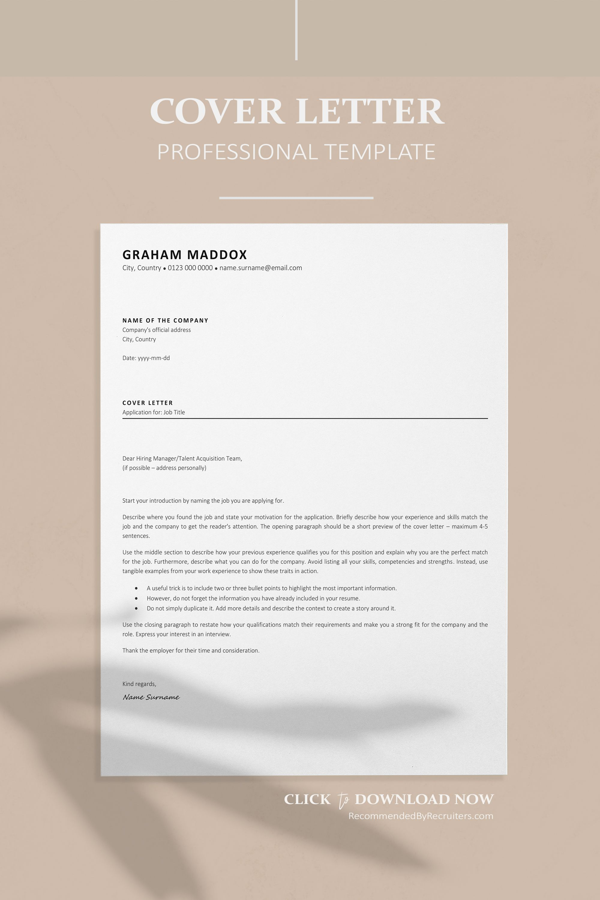 Ats Resume Template Instant Download Functional Cv Classic Etsy In 2021 Cover Letter Design Simple Cover Letter Resume Template