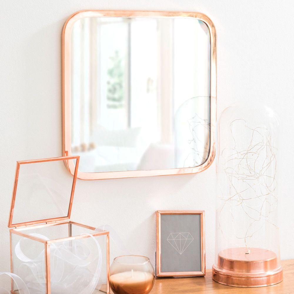 Quadratischer Spiegel aus Metall ... | Einrichtung | Pinterest ...
