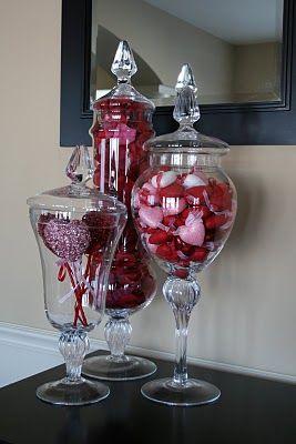 Creative Designs By Jen Valentine S Day Apothecary Jars Valentines Day Decorations Valentine S Day Diy Valentines Diy