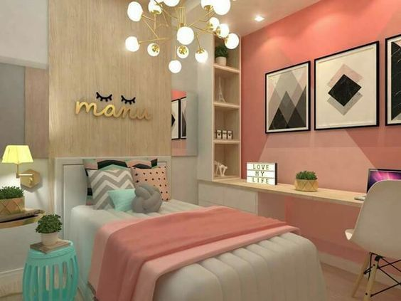 Dormitorios Juveniles Pequenos Modernos Cuartos Para Adolescentes - Decoracion-de-habitacion-juvenil