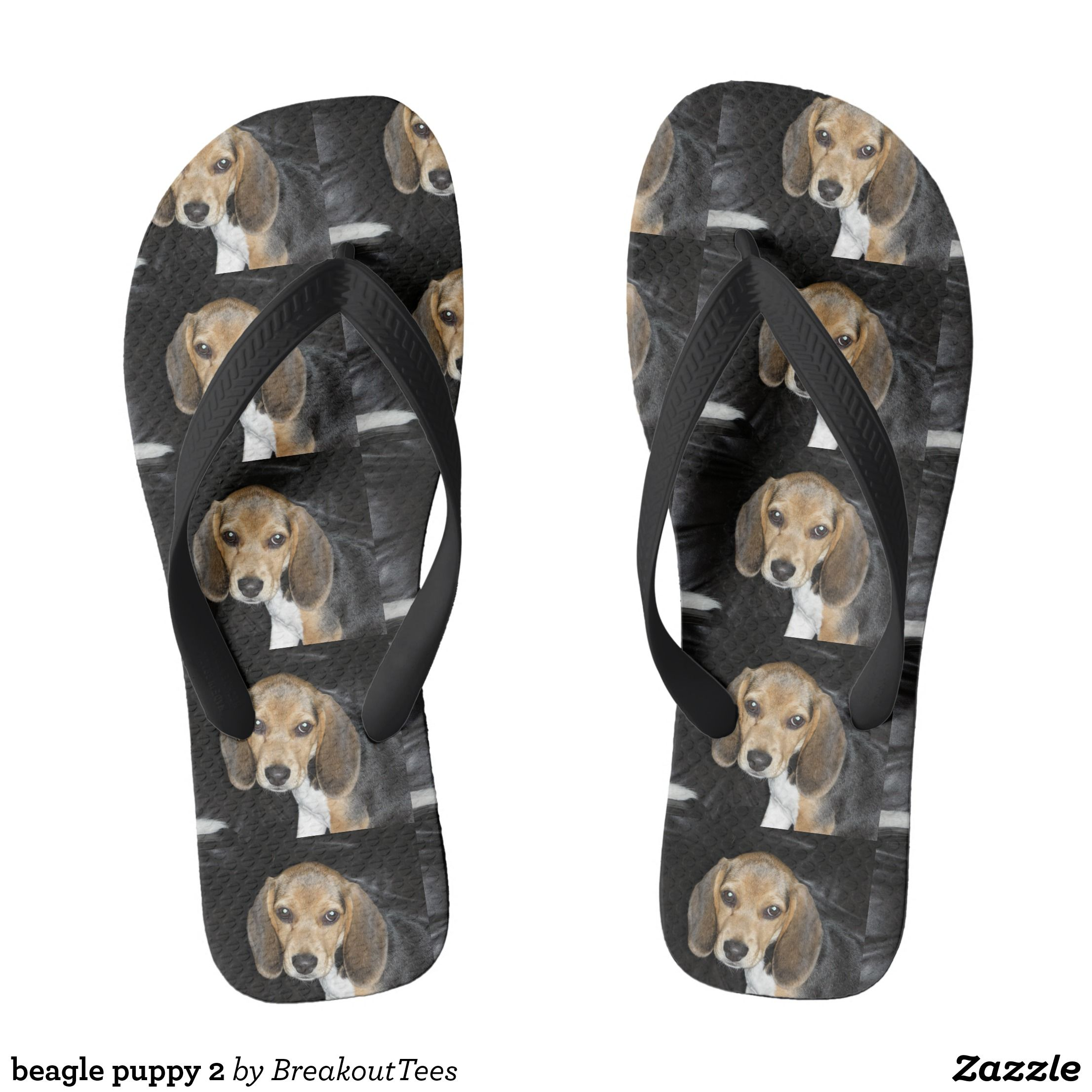 Beagle Puppy 2 Flip Flops Zazzle Com Flip Flops Durable