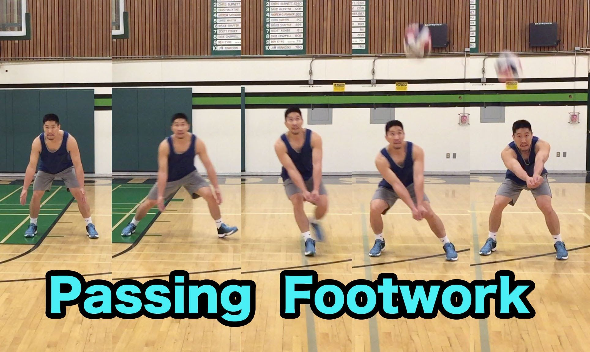 Passing Footwork How To Pass A Volleyball Tutorial Part 5 6 Coaching Volleyball Volleyball Workouts Volleyball Practice