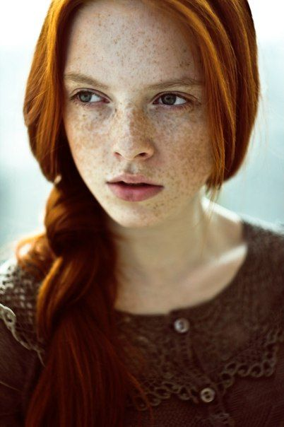Natural freckled redhead