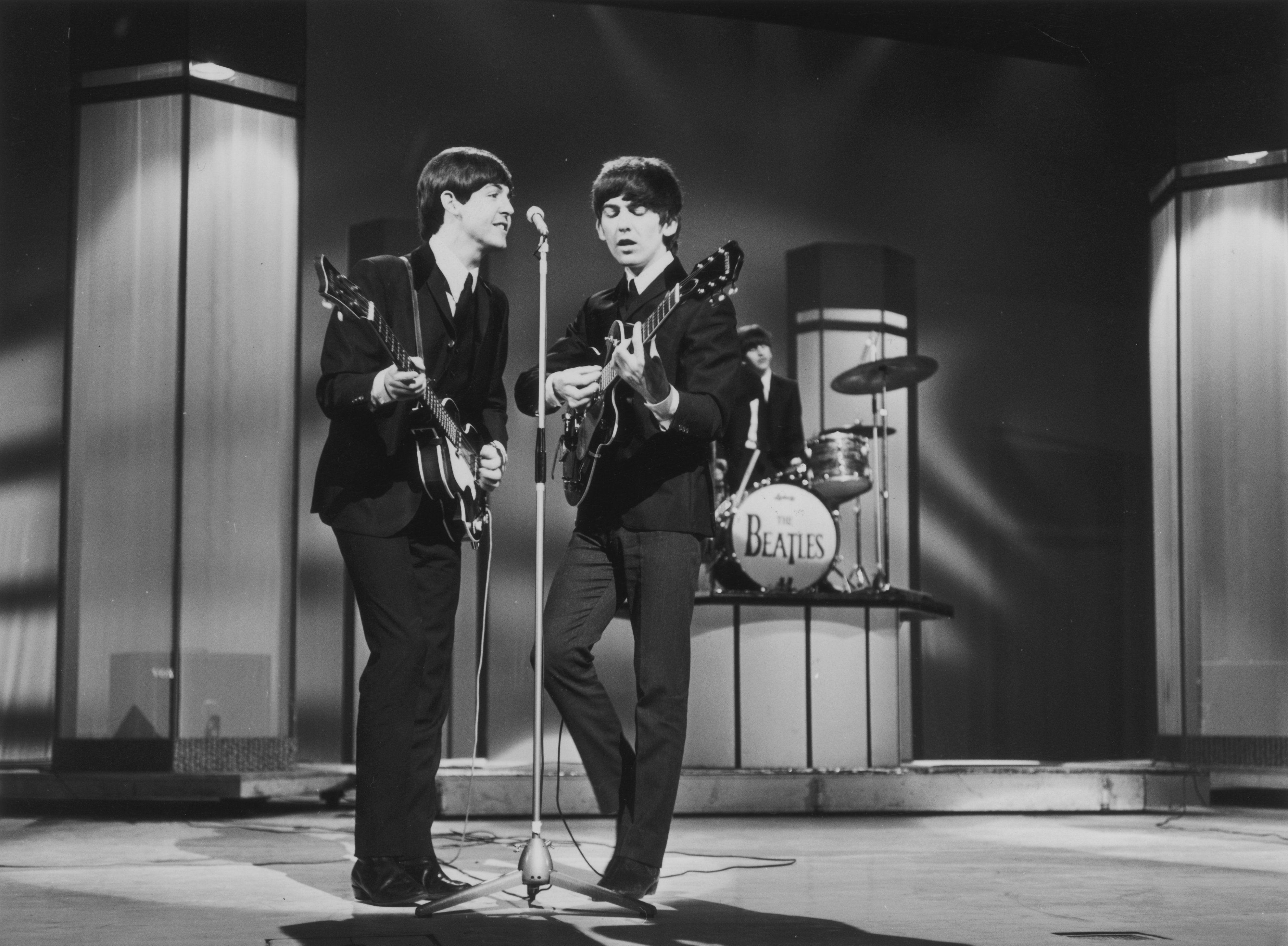 "The Beatles Ed Sullivan Photo Print 12 x 12/"""