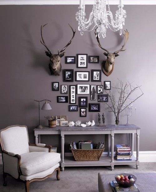 Smoky Purple Purple Living Room Living Room Paint Living Room Grey