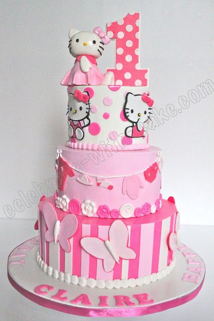 Hello Kitty Cake super sweet and pink Birthday Ideas